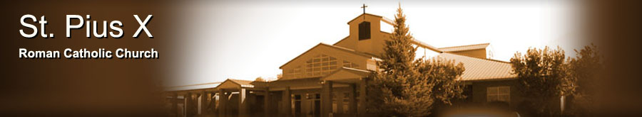 St. Pius Catholic Church Banner